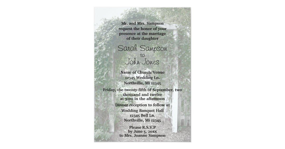 Backyard Wedding Invitation: Backyard Wedding - Wedding Invitation