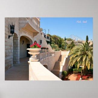 Bahá'í Gardens of Haifa Print