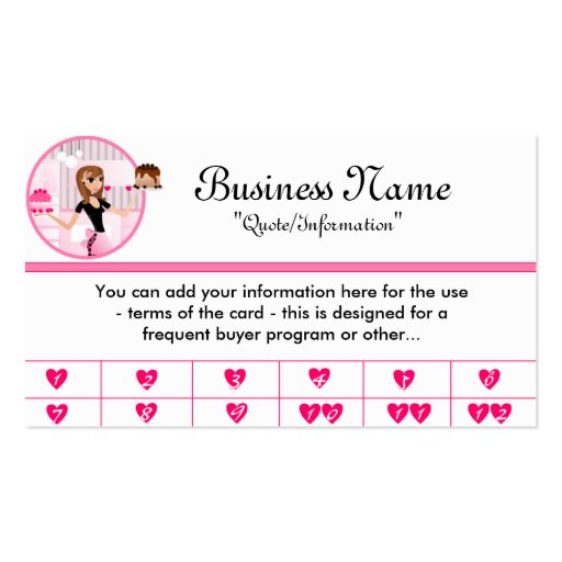 Frequent Buyer Card Business Card Templates Bizcardstudio