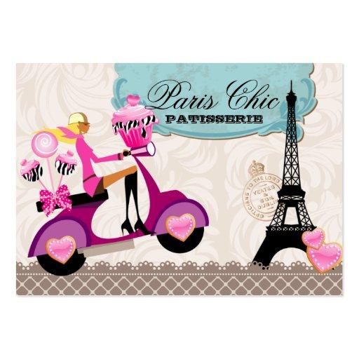 Bakery Cupcake Cake Pops Paris Eiffel Tower Business Card