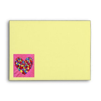 Balloon Heart envelope