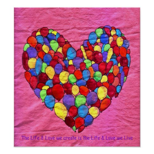 Balloon Heart print