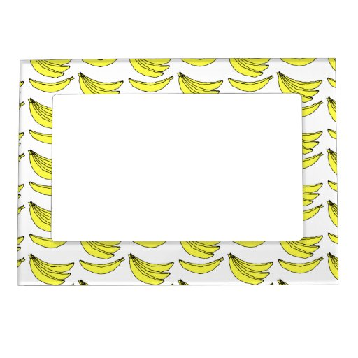 Banana Pattern Magnetic Picture Frame Zazzle