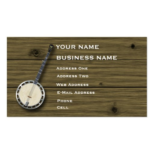 Banjo Music Business Card