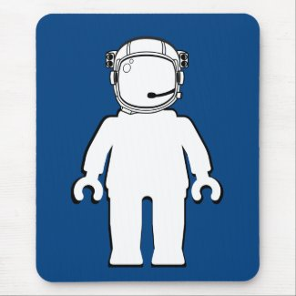 Banksy Style Astronaut Minifig Mousepad