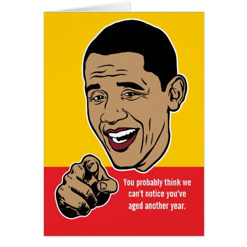 Ornament Of Barack Obama Political Cards Personalized Custom Liberty Maniacs Satire Politics Election Cartoon Birthday Card