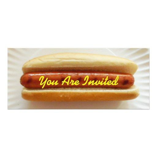 "Barbeque Invitation - Skinny Hotdog 4"" X 9.25"" Invitation ..."