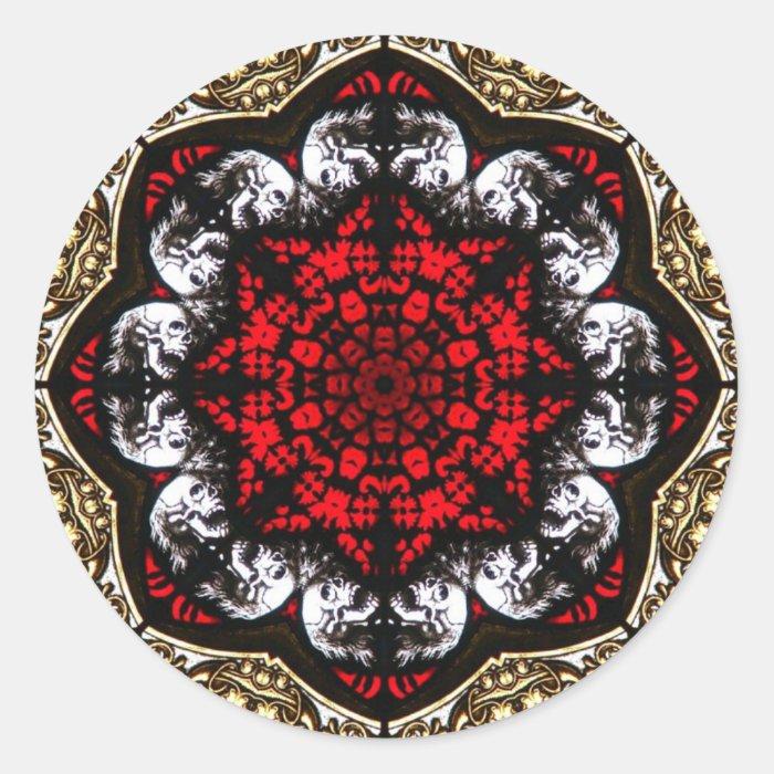baroque skull rose sticker. Black Bedroom Furniture Sets. Home Design Ideas