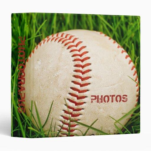 "Baseball 1.5"" Photo Album 3 Ring Binders"
