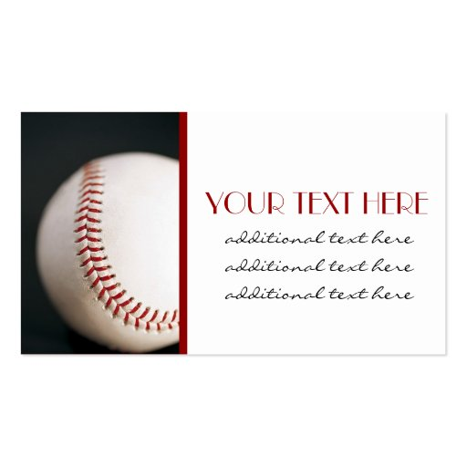 Baseball business card templates zazzle for Baseball card size template