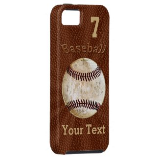 Baseball iPhone 5S Case with YOUR NUMBER and NAME