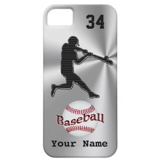 Baseball iPhone 5S Cases with YOUR NAME and NUMBER iPhone 5 Case