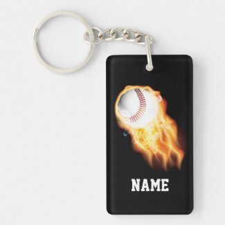 Baseball Keychains with NAME or YEAR and TEAM NAME