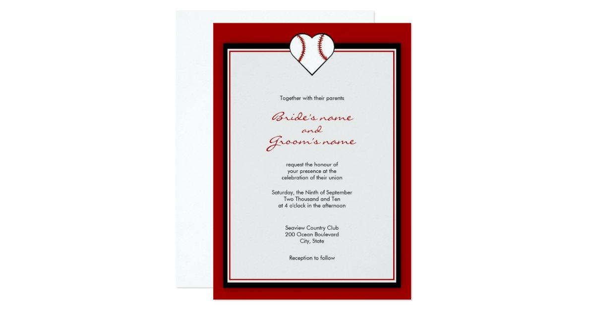 Baseball Wedding Invitation: Baseball Theme Wedding Invitations