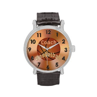 Basketball Coach Gift Ideas Men PERSONALIZED Watch