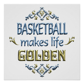 BASKETBALL is Golden Poster