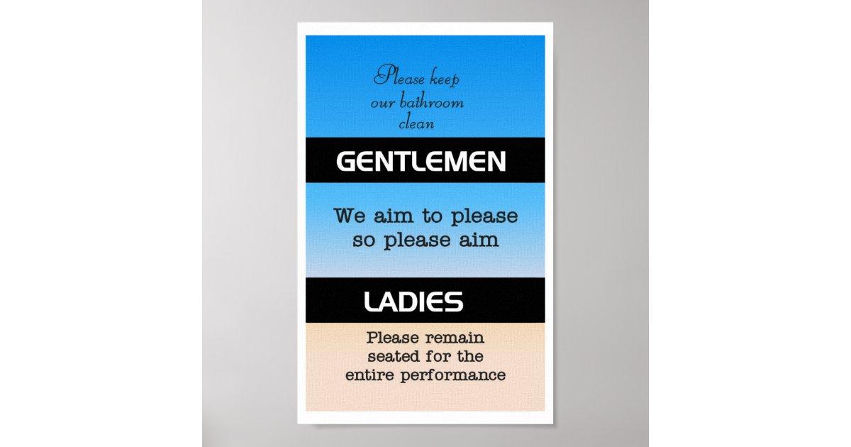 Bathroom Etiquette Poster Zazzle