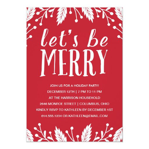 Christmas Party Invitation Quotes: Holiday Party Invitation