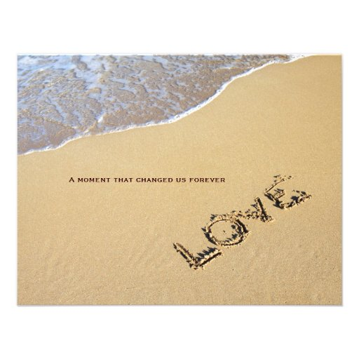 "Love Quotes For Wedding Invitation: Beach And Love Quote Wedding Invitation 4.25"" X 5.5"