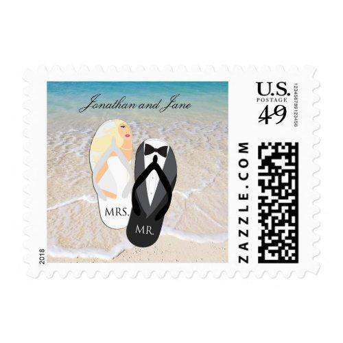Mr & Mrs Wedding Postage Stamps - Custom Postage Stamps