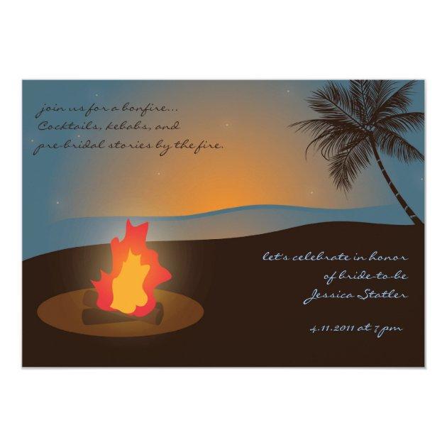 Personalized Bonfire Invitations