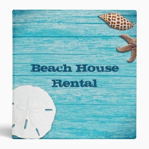 The Beach House Book: Beach House Rental Information Book Binder