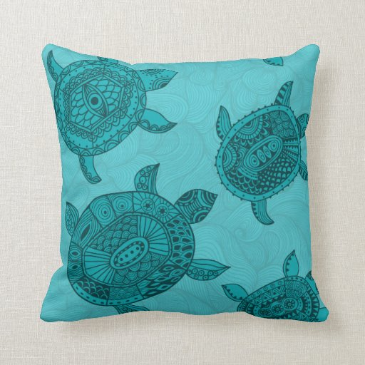 Home Design Photos House Design Indian House Design New: Beach House Sea Turtle Decorative Throw Pillow