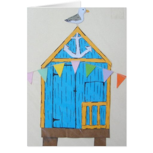 Inspiration Hut Grid Paper: Beach Hut Greetings Card