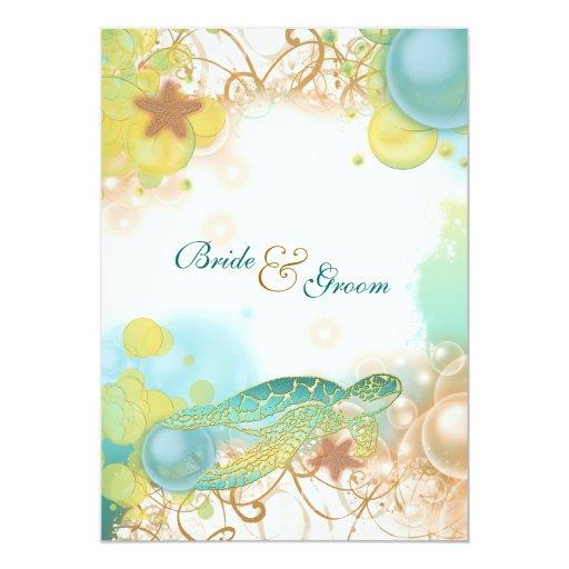 Sea Turtle Wedding Invitations: 244+ Turtle Theme Invitations, Turtle Theme Announcements