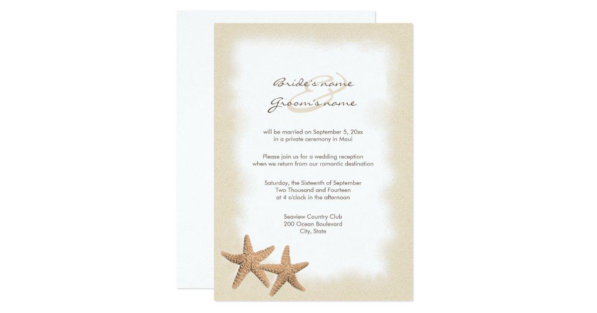 Reception Only Wedding Invitations: Beach Wedding Reception Only Invitations