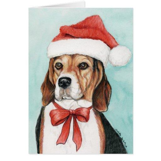 Beagle Christmas Cards, Beagle Christmas Card Templates