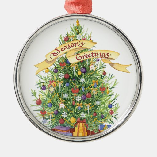 Beautiful Christmas Tree Banner Seasons Greetings ...