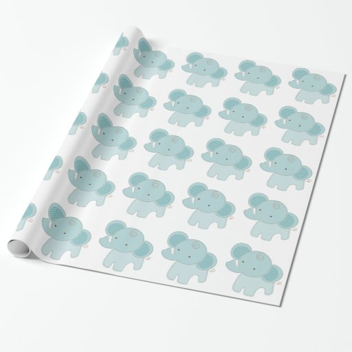Beautiful Elephant Baby Shower Wrapping Paper Zazzle