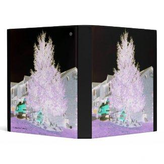 Beautiful Glowing Christmas Tree Binder binder