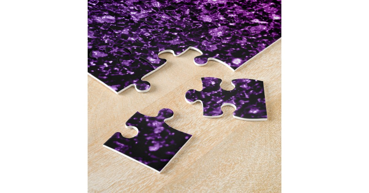 Beautiful Purple Pink Ombre glitter sparkles Jigsaw Puzzle ...