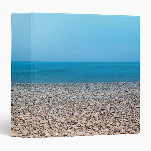 Beautiful Stone Beach 3 Ring Binder