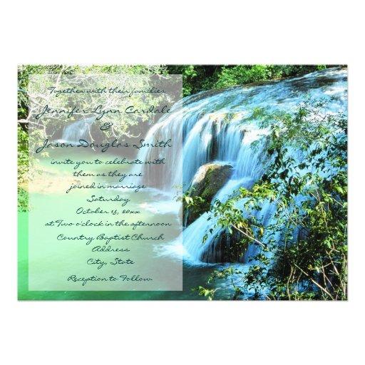 Outdoor Wedding Invitations: Beautiful Waterfall Outdoor Wedding Invitations