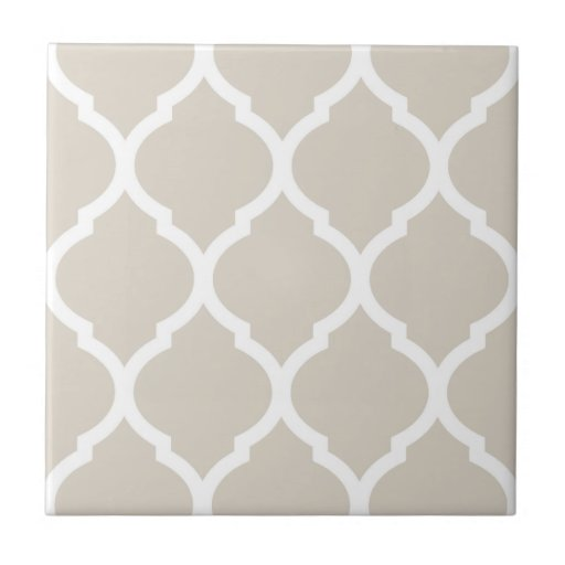 Beige Moroccan Quatrefoil Patterned Ceramic Tile Zazzle