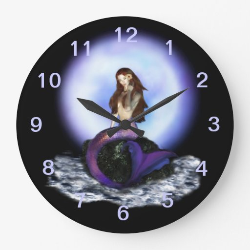 Believe Mermaid Wall Clock 1 Zazzle