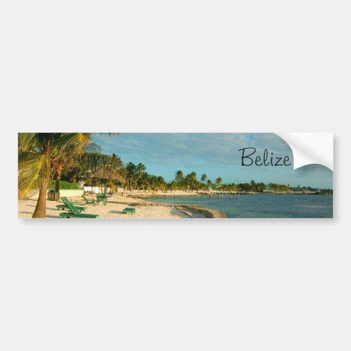 Belize Beaches: Belize Beach BumperSticker Bumper Sticker