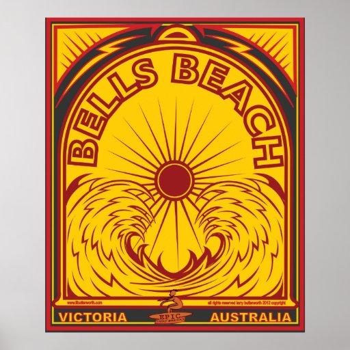 BELLS BEACH VICTORIA AUSTRALIA SURFBREAK SURFING POSTER