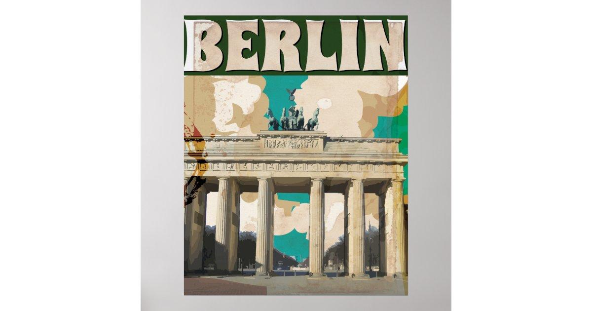 berlin vintage travel poster zazzle. Black Bedroom Furniture Sets. Home Design Ideas