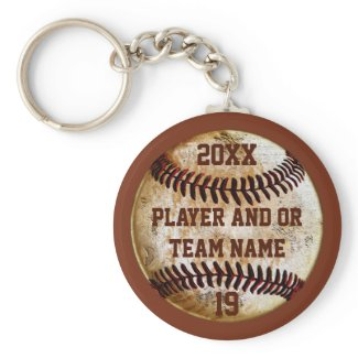 Best Baseball Senior Night Gift Ideas PERSONALIZED Silver-Colored Round Keychain