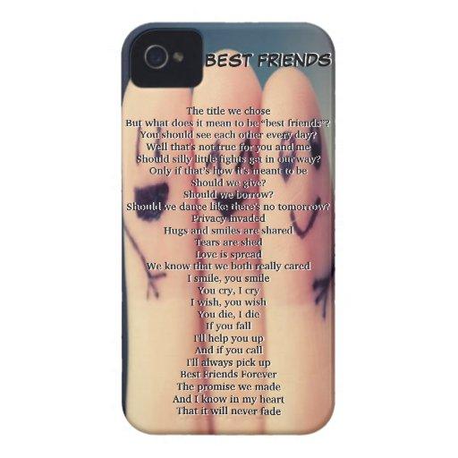 Best Friend Case iPhone 4 Case-Mate Case   Zazzle
