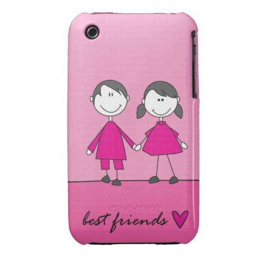 best friends pink Case-mate Iphone 4 Cases