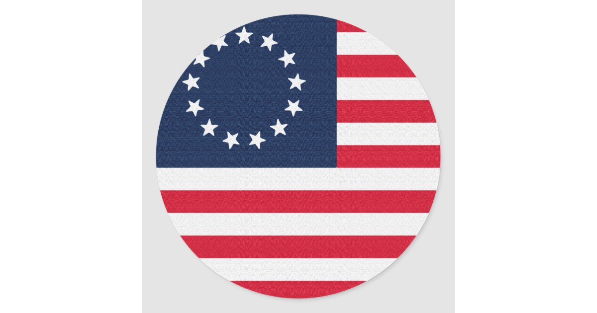 Betsy Ross 13 Stars American Flag Classic Round Sticker