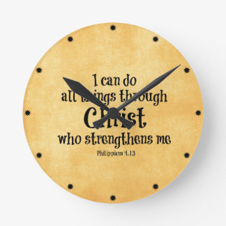 Bible Verse I Can Do All Things Through Christ Round Wall
