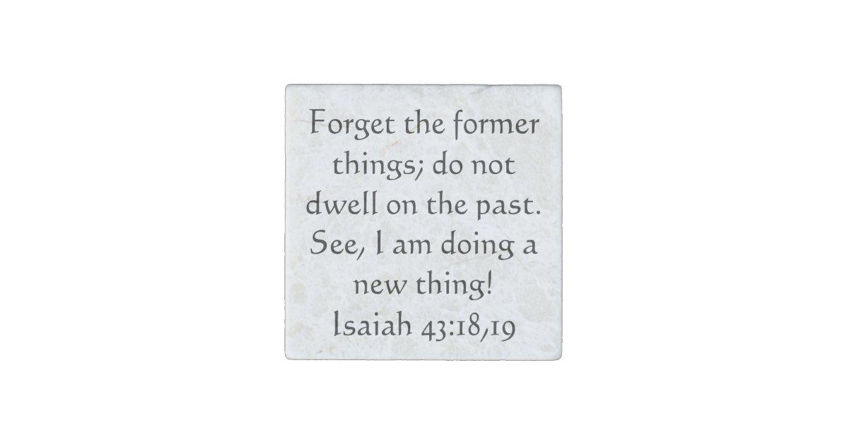 Bible Verse Isaiah 43 18 19 Stone Magnet Zazzle