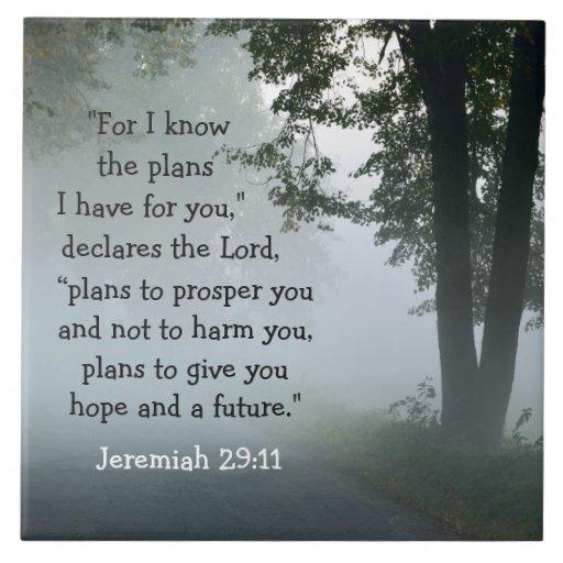 Bible Verse Jeremiah 29 11 Ceramic Tile Zazzle