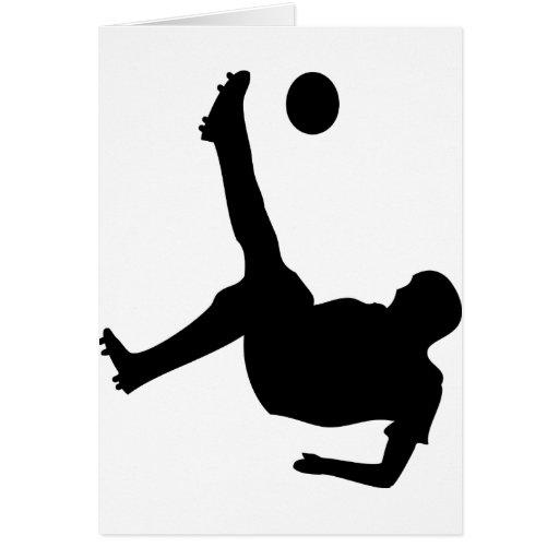 bicycle kick soccer player card | Zazzle
